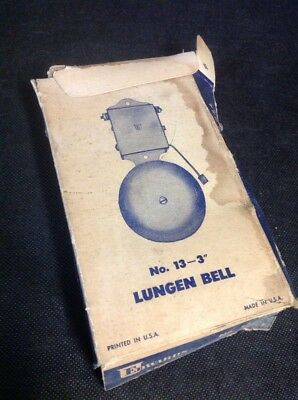 """NOS Vintage Edwards Signaling Co Lungen Signal Alarm Bell 6"""" Inch No. 13 (A5)"""