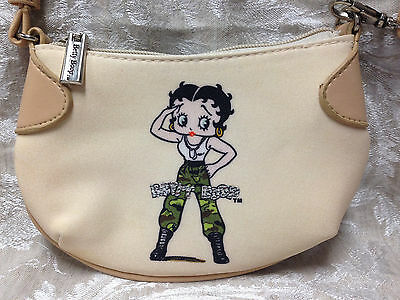 Vintage Betty Boop Military Purse Clutch, Miniature Coin Purse, BEIGE
