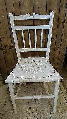 Shabby chic chippy Vintage Victorian white Restaurant Wooden Chair old wood