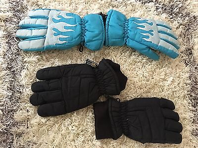Thinsulate Snow/skiing Youth Large Gloves Lot (2 Pairs)