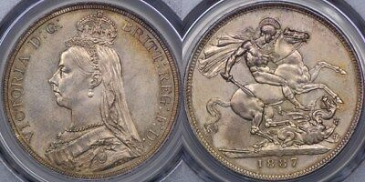 Great Britain, 1887 Crown - PCGS MS64