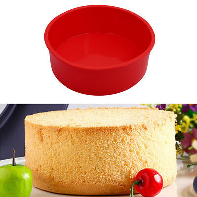 """6"""" Round Silicone Cake Mold Pan Muffin Pizza Pastry Baking Tray Mould Bakeware"""