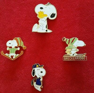 Collection Lot of Vintage Enamel SNOOPY Peanuts Pins SKIING*GOLFING*WOODSTOCK • $7.50