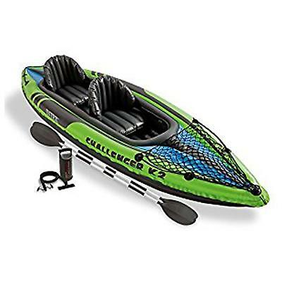 Intex Challenger K2 Kayak, 2-Person Inflatable Kayak Set with Aluminum Oars...