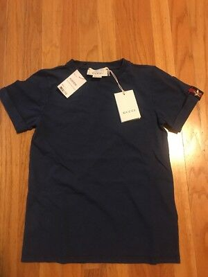 GUCCI Kids OLTREMARE/BLUE/RED/GOLD STAR Shirt Size 8 $160
