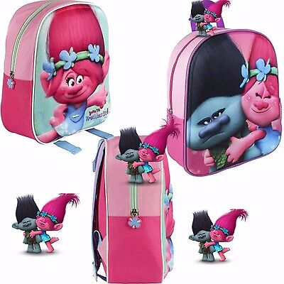 Trolls licensed backpack 3D School backpack Poppy, Poppy and Branch High Quality