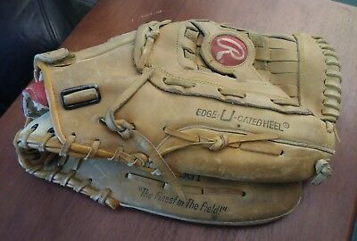 "RAWLINGS (RSG1) Super Size 13.5"" Leather Right Handed Glove, RHT, basket web"