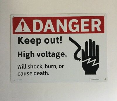 Danger Keep Out High Voltage Sign 10 X 14 Metal Aluminum Signs