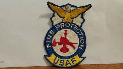 Original vintage Fire Protection Color Patch. 3 3/4 X 2 1/2 inches