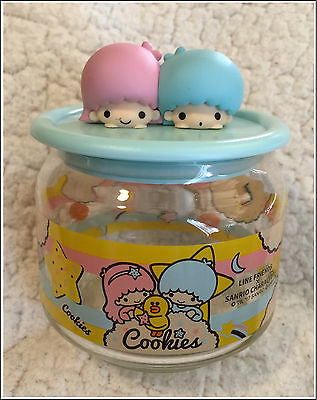 Line Friends X Sanrio Characters Glass Container - Little Twin Stars