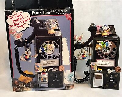 ENESCO PARTY LINE I Just Called To Say I Love You Mice Telephone Vintage