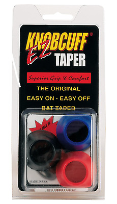 Knobcuff Markwort Knob Cuff Taper Grip-Pack of 3 (Black/Blue/Red Mix)