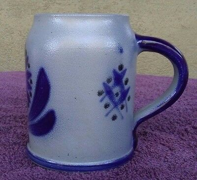 Hand Made Hand Painted German Style Ceramic Beer Stein Mug Cup 18 oz