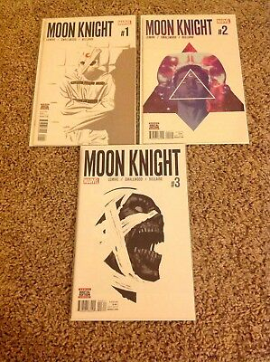 Moon Knight #1,2,3 Lot of 3 (2016 Lemire) All First Prints