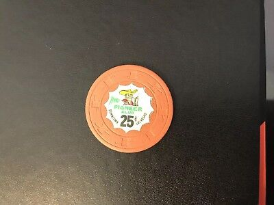 Vintage 1950s Downtown Vegas New Pioneer Club .25 Cent Chip---Extremely Rare