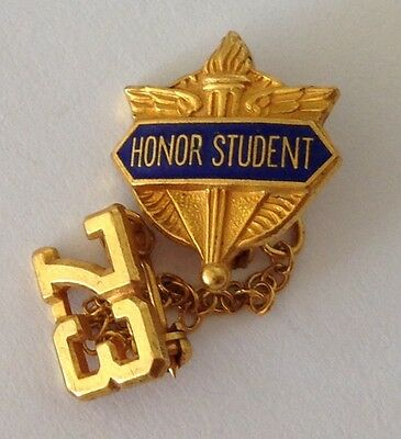 Honor Student Number 73 Authentic Small Pin Badge Rare Music (N9)