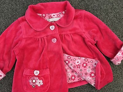 Size 0 ~ TARGET ~ Dark Pink Velour Button Front Cardigan / Jacket ~ AS NEW!