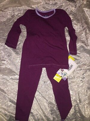 KICKEE PANTS LONG SLEEVE PAJAMA SET - Melody With Lilac Size 3T