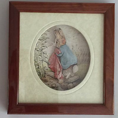 Beatrix Potter John Ellam DeCoupage Peter Rabbit 3D Art Picture Frederick Warne
