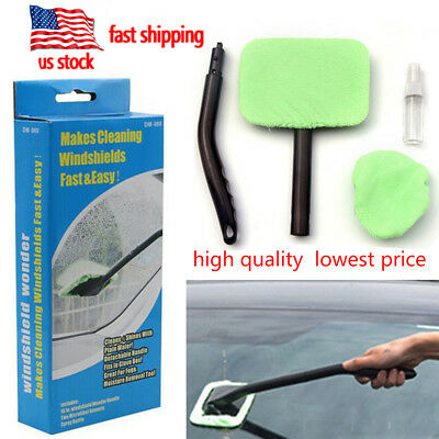 Microfiber Windshield Easy Clean Car Wiper Cleaner Glass Window Tool Brush kit