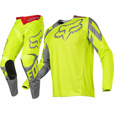 New 2017 Fox 180 Race Pant And Jersey Combo- Yellow