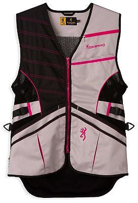 Browning Womens Ace Shooting Vest,Hot Pink,Hot Pink,S 3050727701