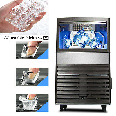 Stainless Steel Commercial Automatic 110Lbs 55kg/24h Ice Cube Ice Maker Machine