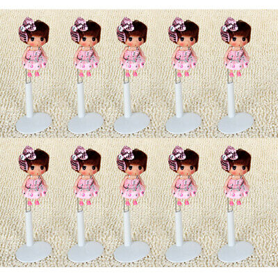 10Pcs White Adjustable Doll Stands 14-20cm Dolls Display Holders Accessories