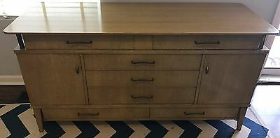 J.L. Metz 1940s or 50s Blonde Solid Mahogany Credenza - Very Good Condition