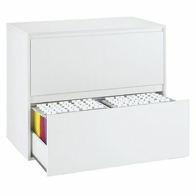 Mystique 2 Drawer Lateral Filing Storage Cabinet - White
