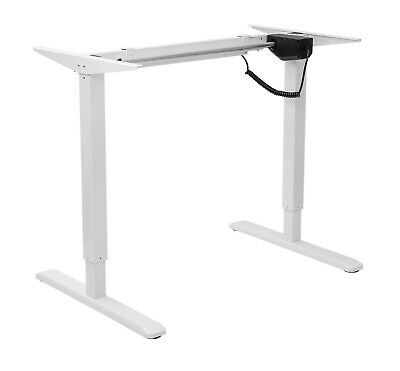 Height Adjustable Electric Motorised Standing Sit Stand Desk Table Office