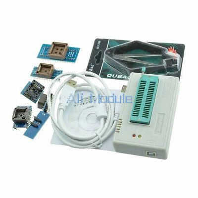 TL866CS Programmer USB EPROM FLASH BIOS 6 Adapters Socket Extractor For 13000 AM
