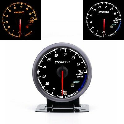 """60MM Car Auto Tachometer 0-10000 RPM Gauge Meter With Red & Amber Lighting 2.5"""""""