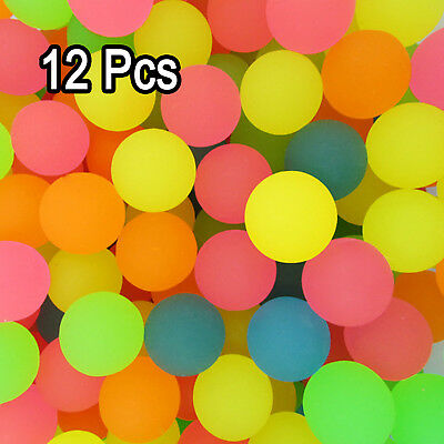 "12Pcs 6 Color random 1"" Rainbow Bouncing Balls Glow In The Dark Kid's Party Toys"