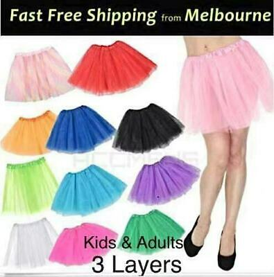 Ladies Adults Ballet Tutu Girls Classic Ballet Skirt Tulle 40CM Red/White/Black.