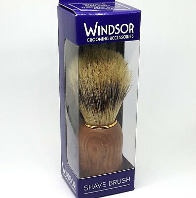 Windsor Wet Shave Shaving Brush Pure Boar Bristle For Men | Grain Timber Handle