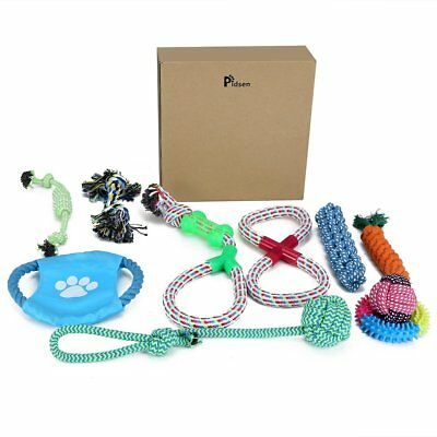 Dog Toy Set 10 Pack Pet Dog Puppy Chew Cotton Ropes Toys Pet Suppliers Play Toys