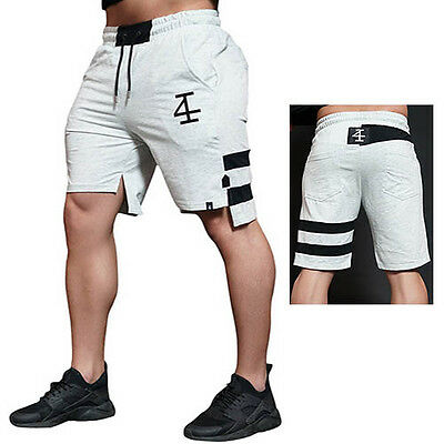 Gym Running Shorts Sports Mens Short Pants Joggers Sweatpant Bodybuilding Cotton