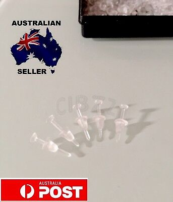 12x Earrings Clear Studs Invisible Transparent With Backings NEW Plastic Jewelry