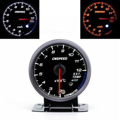 "Universal 2.5"" 60mm Car EGT Exhaust Gas Temp Gauge Meter Motor LED Indicator"