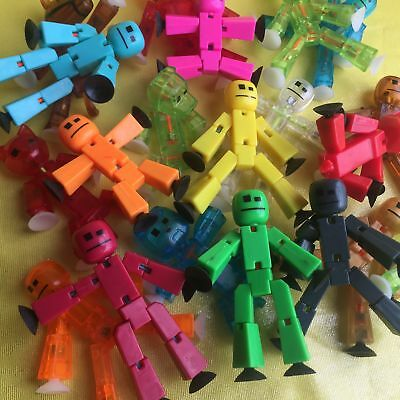 """3x 3"""" Different Color Stikbot Animation Action Figures SENT AT RANDOM"""