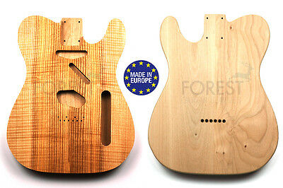 TELECASTER 50s Body Electric guitar American Alder / bookmatched curly Ash top