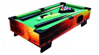 Carromco Shooter XT Table Top Billiards Table Cues & Triangle Indoor Games 60cm