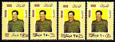 Irak Iraq 1995 ** Mi.1539/42 Freimarken Definitives ovpt. new denomination