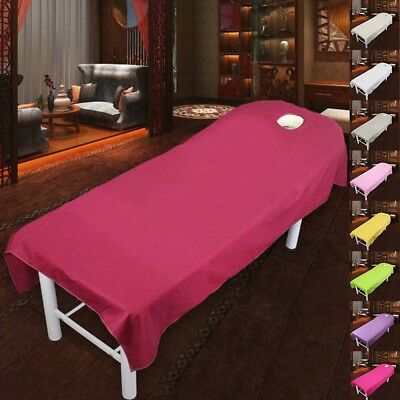Beauty Massage Bed Table Cotton Cover Salon Spa Couch Sheet Bedding With Holes