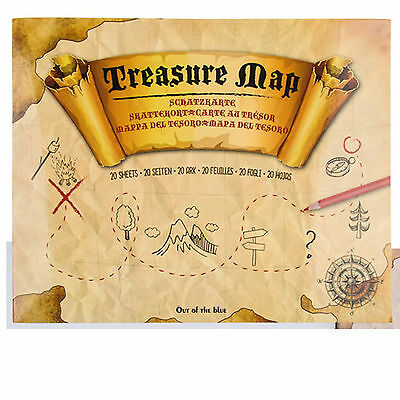 Children Kids Treasure Map for painting with 20 sheets Play Party Game