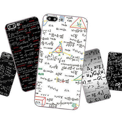 Case For iPhone 5S 5C 6 6S 7 Plus Soft TPU Silicone Phone Back Cover Maths Skin