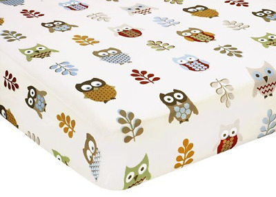 Night Owl Fitted Crib Sheet for Baby/Toddler Bedding Sets by Sweet Jojo Designs