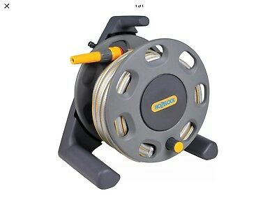 Hozelock 2412 30m Free Standing Garden Hose Reel with 25m Hose & Accessories GRY
