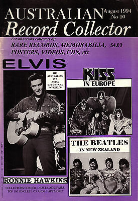 Australian Record Collector Issue 10 Elvis/kiss/beatles/r Hawkins 1994 86 Pages